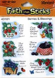 Berries and Blessings stickers 6 sheets per pack