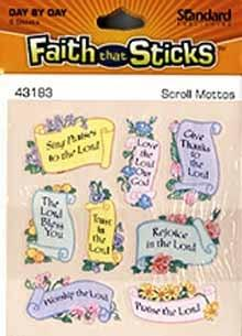 Faith that Sticks Scroll Mottos - 6 sheets per pack