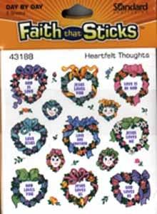 Heartfelt thoughts stickers by Standard Publishing - 6 sheets per pack