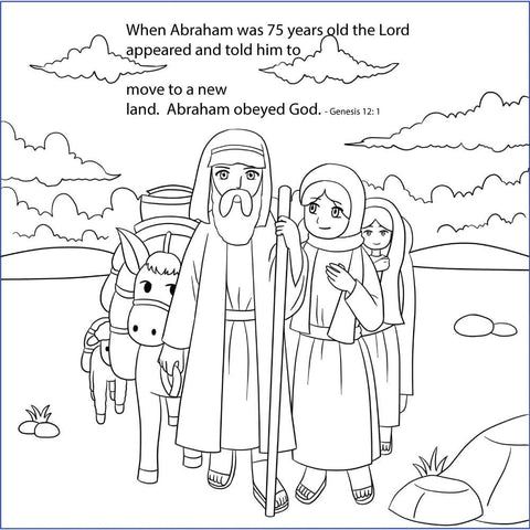 Abraham and Sarah Bible Story Coloring Pages in English
