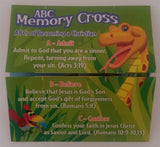 ABC Memory Cross Tract 25 per pack.   A fun kid friendly way to share God's love