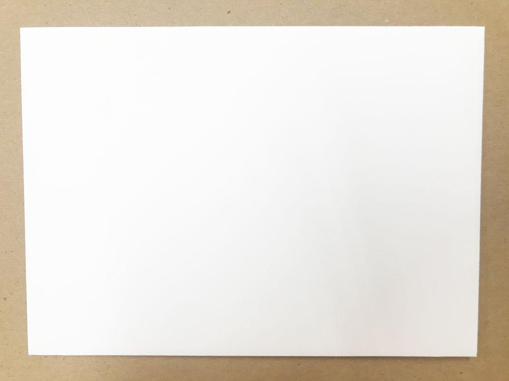 Waverly Hall A-7 70 lb. Square Flap Smooth White Envelope Size: 7.25 x 5.25