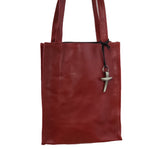 Leather Tote bag by Crimson Truth