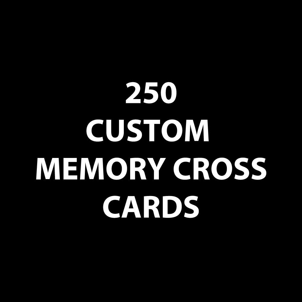 Customized Memory Cross Card - Size: 3 3/8 x 3 3/8