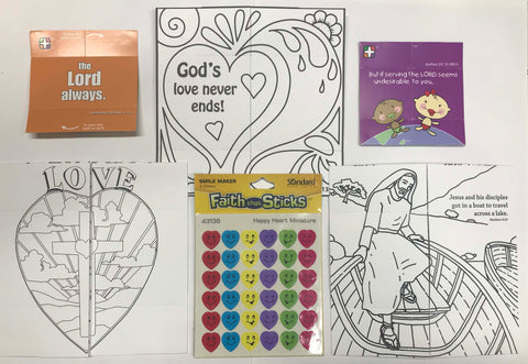 Jesus loves you encouragement pack - no crayons