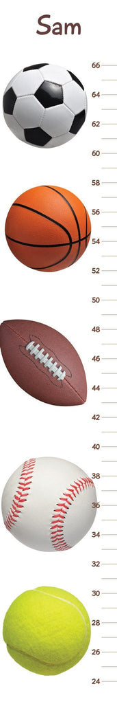 "Sports Growth And Size Chart  - Size: 8"" x 48"""