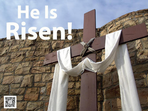He has risen Easter yard sign