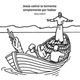Jesus Calms the Storm in Spanish  - 12/Pk Size: 6 x 6