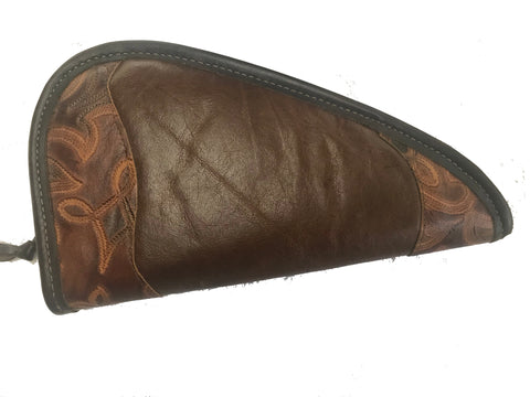Pistol Holder Handmade in the USA Large Top-Grain Cow Leather.  Size: 11 x 6""