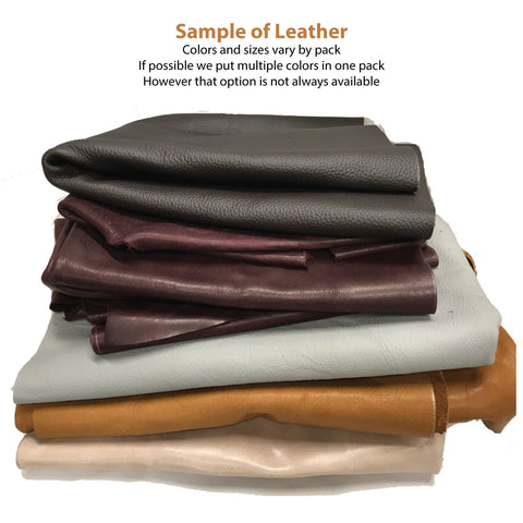 5 lbs Leather pieces: 8-15 pieces per bag