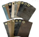 Genuine Cow Leather Swatch Cards - Earthtone Colors Size: 4.5 x 7 - 15 Cards per Set