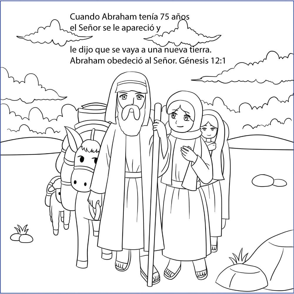 Spanish - The Story of Abraham, Sarah and Issac - 12/Pk size: 6 x 6