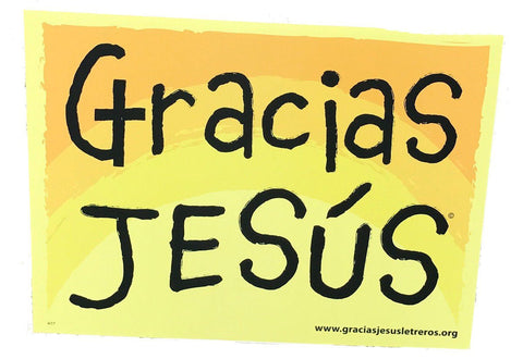 Thank you Jesus Spanish Christian yard sign