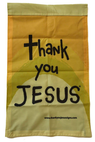Thank You Jesus Garden Yard Flag