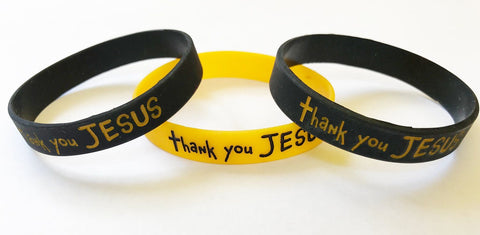 Thank You Jesus Silicone Bracelets - 1 per pack