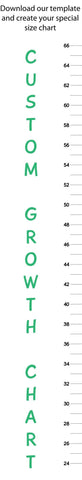 "Custom Growth And Size Chart  - Size: 8"" x 48"""