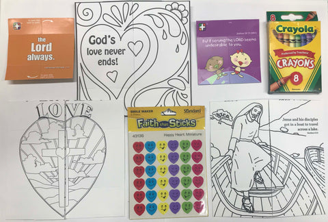 Jesus loves you encouragement pack - with crayons