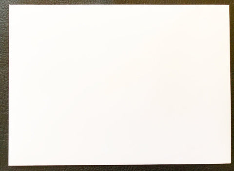 Waverly Hall A-7 70 lb. Square Flap Smooth Natural White (cream) Envelope Size: 7.25 x 5.25