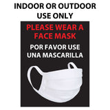 Please wear mask English and Spanish window cling decals