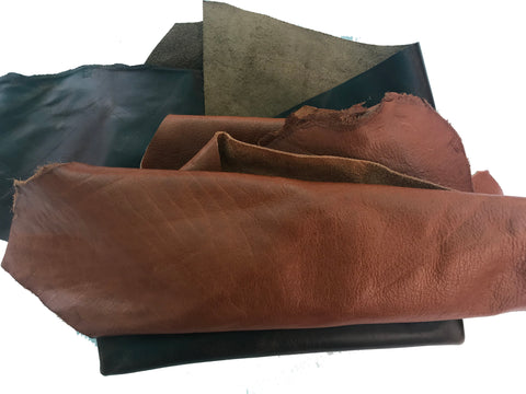 Premium Leather pieces - 1-3 pieces per pack - 2 lbs.