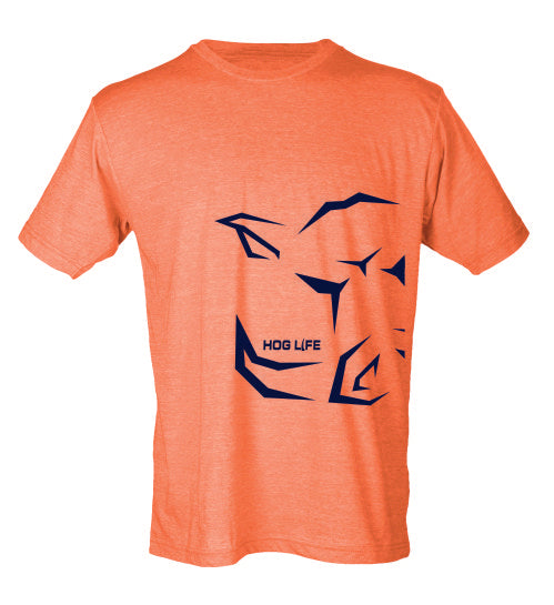 Heather Orange Hog Life shirt