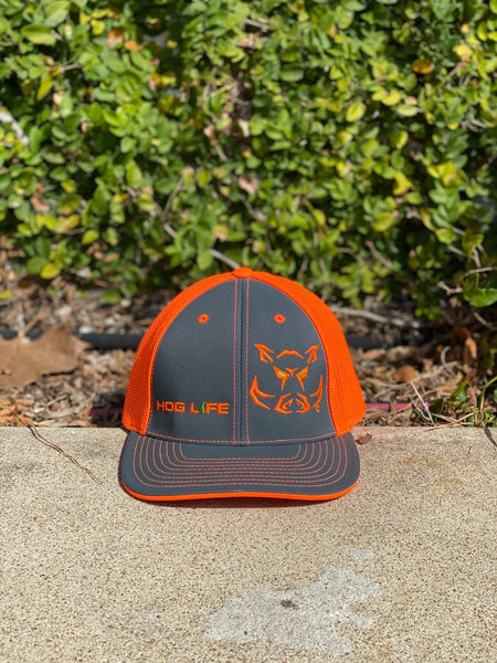 Safety Orange Hog Life Cap-Fitted