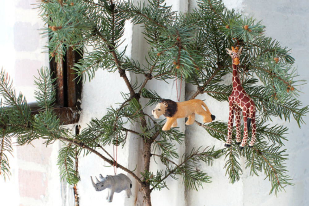 Holiday: Hand carved Wood Tree Ornaments