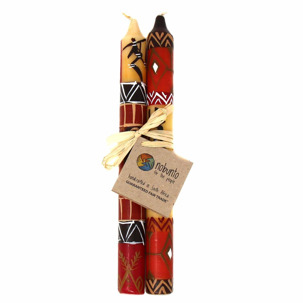 Damisi Design | Set of 2 Tapers | Hand-Painted Candles | Nobunto