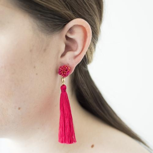 The Rosette Tassel Earring, Carousel - Aid Through Trade - fairtribe