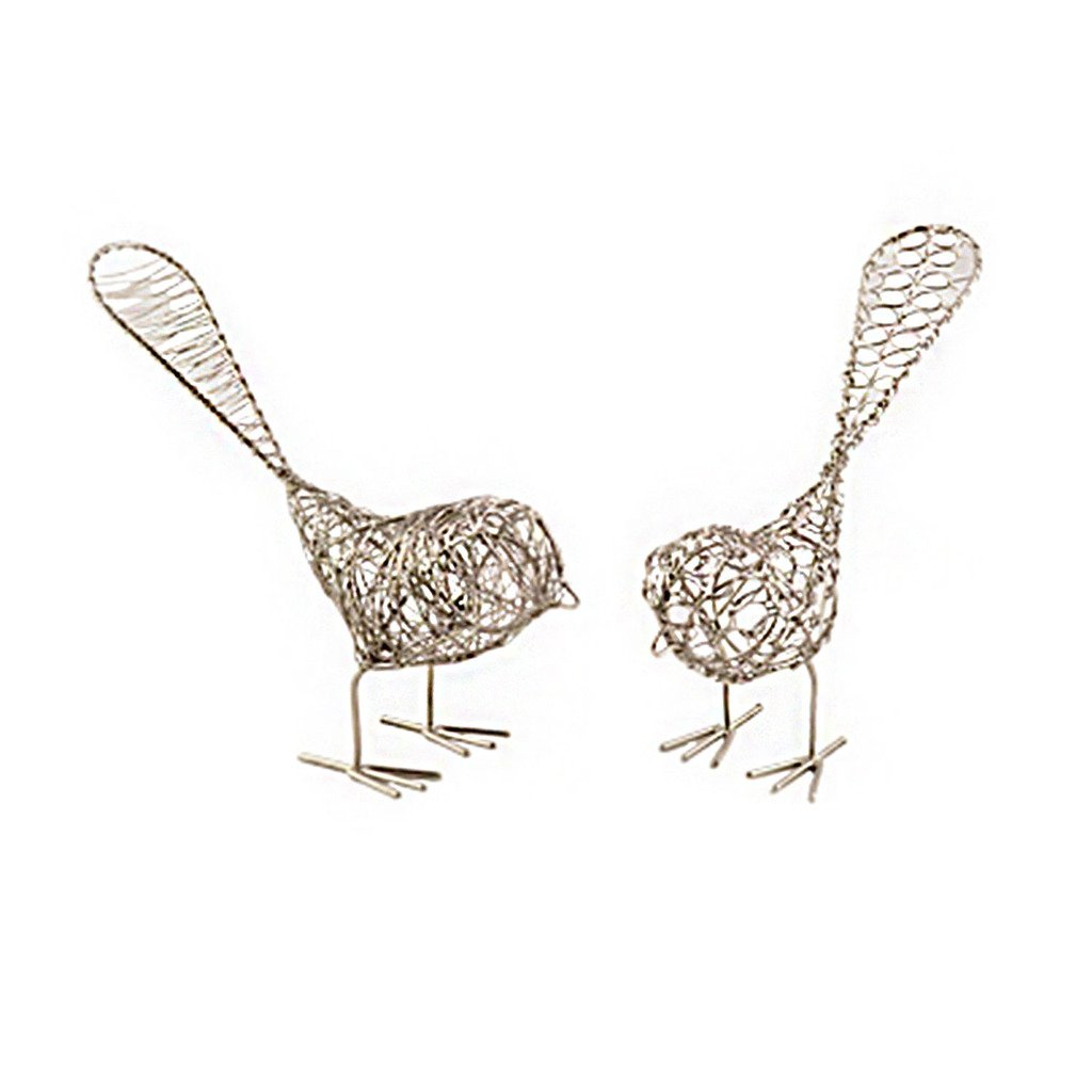 Set of Two Decorative Wire Birds - fairtribe
