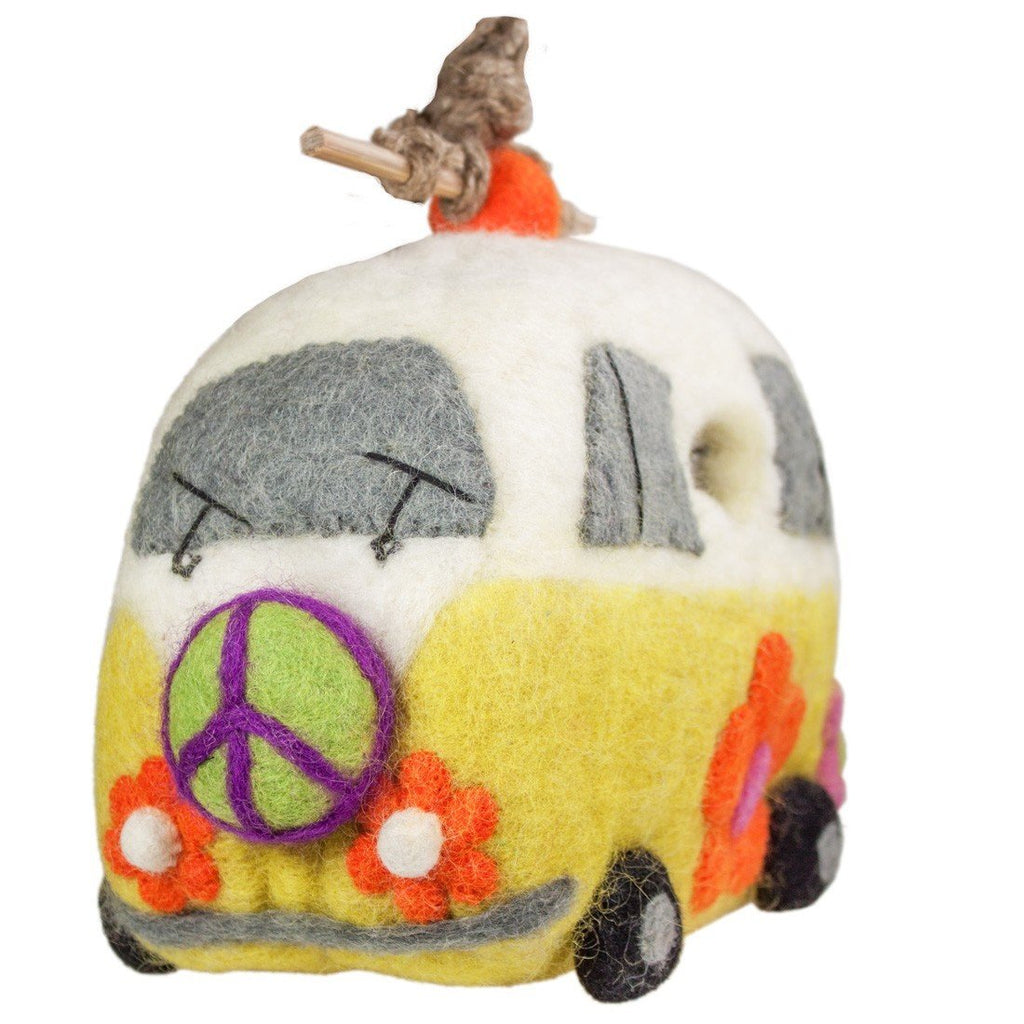 Felt Birdhouse - Magic Bus - Wild Woolies - fairtribe