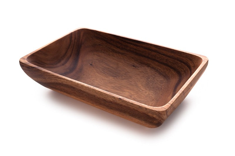 Acacia Wood Rectangular Bowl - fairtribe