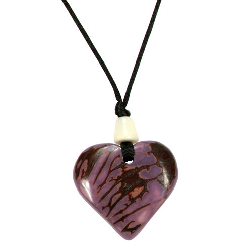 Tagya Nut Purple Heart Pendant - fairtribe