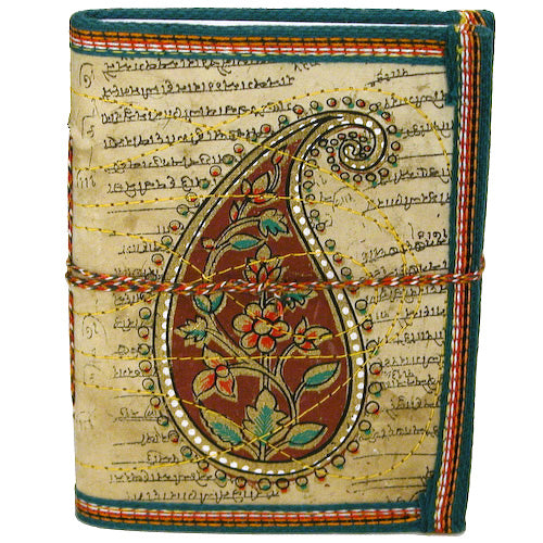 Paisley Block-Printed Cloth Journal - fairtribe