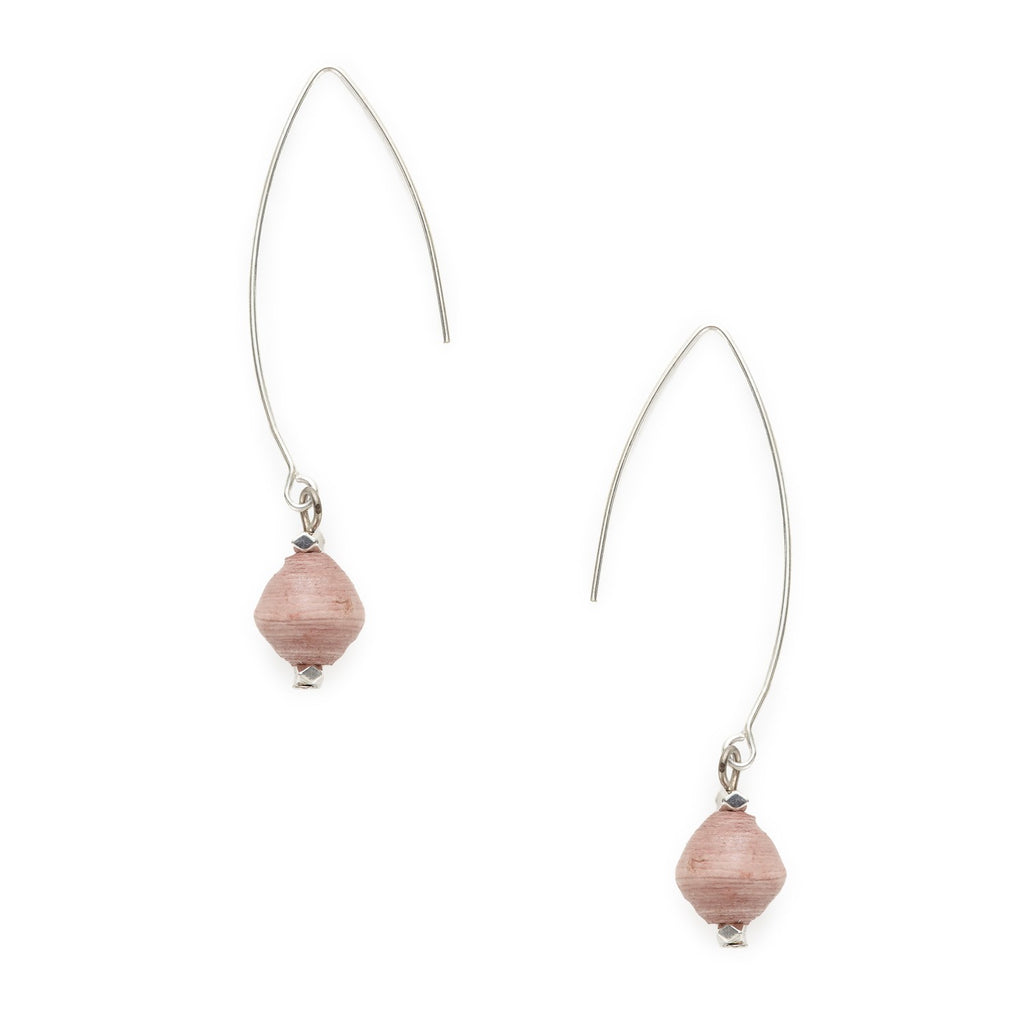 Rahisi Sterling Earrings - Blush - fairtribe