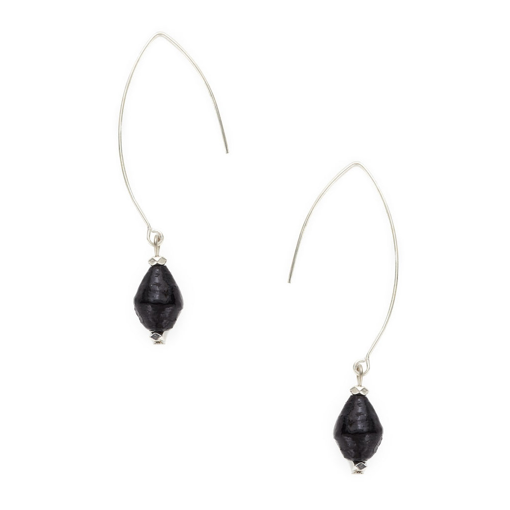 Rahisi Sterling Earrings - Midnight Blue - fairtribe