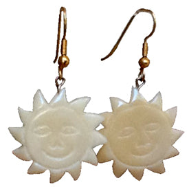 Tagua Nut Sun Earrings