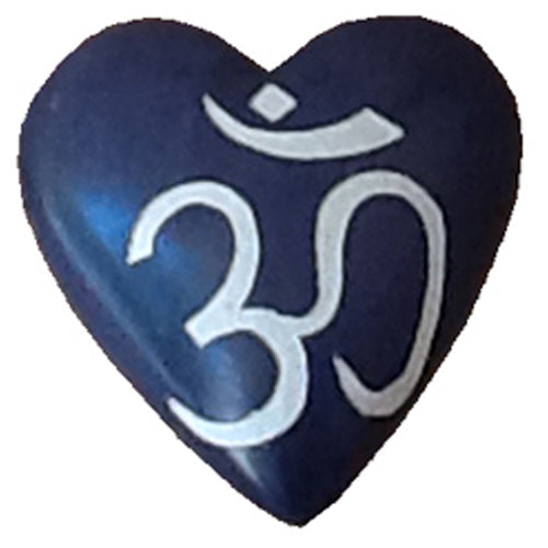 Soapstone Hearts - OM Symbol crafted by Artisans Haiti