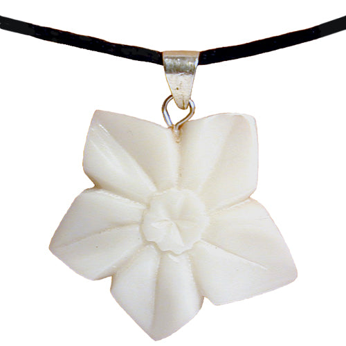 Pansy Tagua Flower Pendant from Ecuador