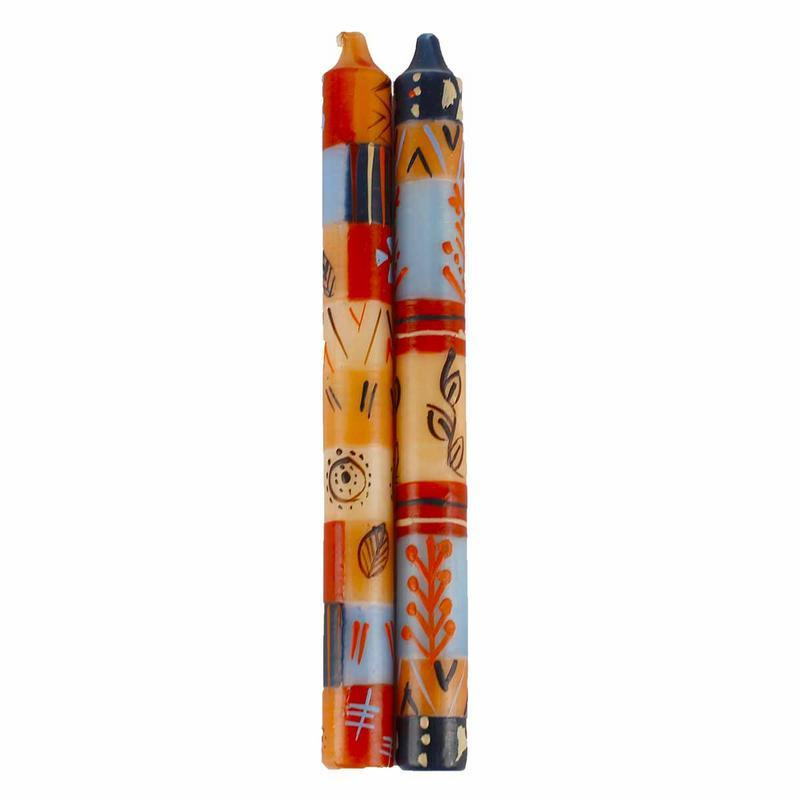 Hand Painted Candles in Uzushi Design (pair of tapers) - Nobunto - fairtribe