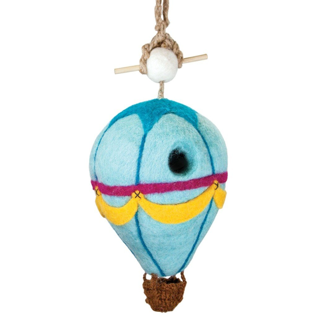 Felt Birdhouse - Hot Air Balloon - Wild Woolies - fairtribe