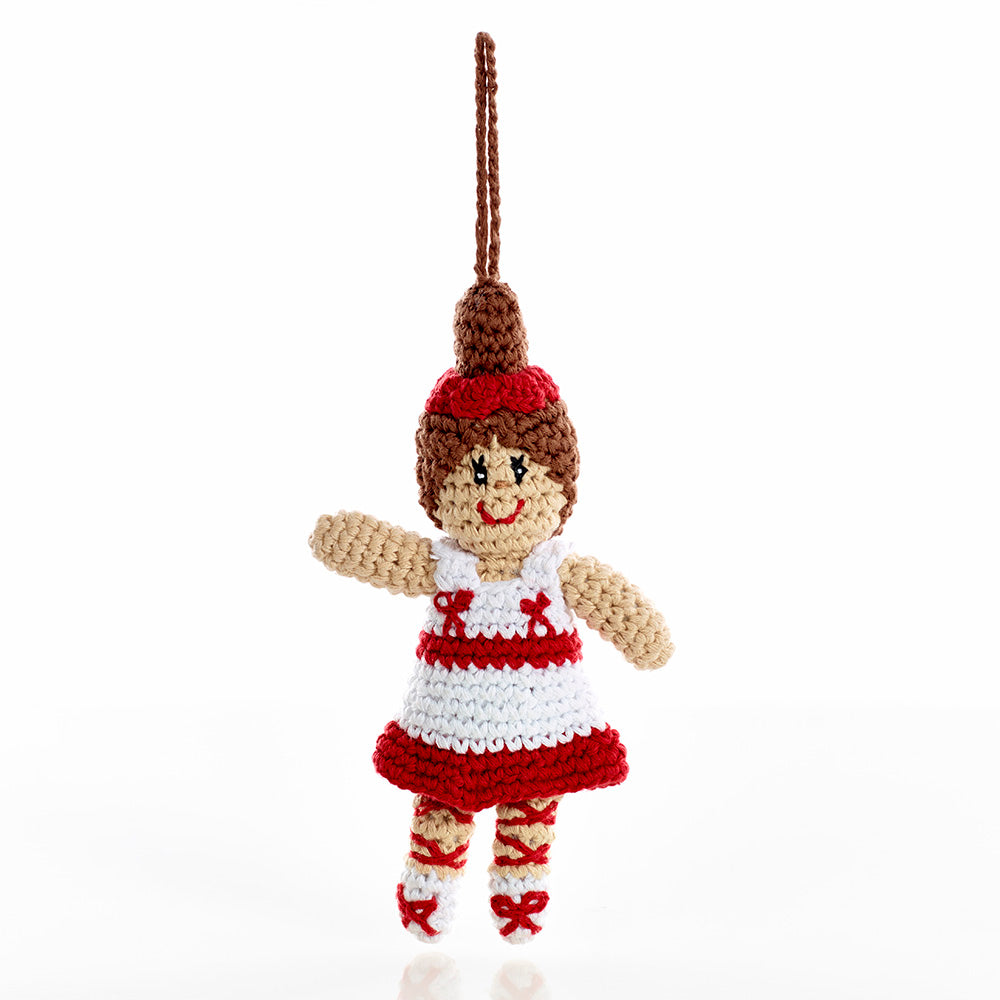 Ballerina in Tutu - Crochet Christmas Tree Ornament