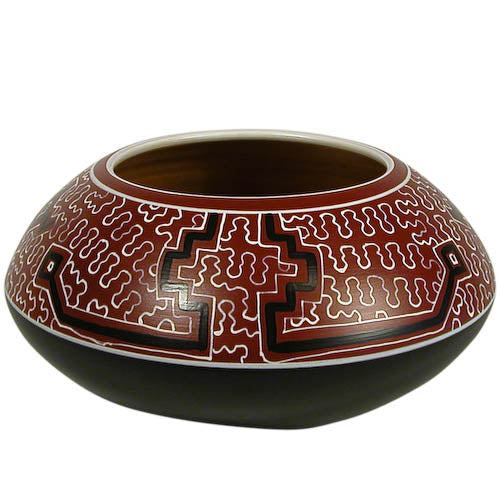 Shipibo Rounded Pot from Peru - fairtribe