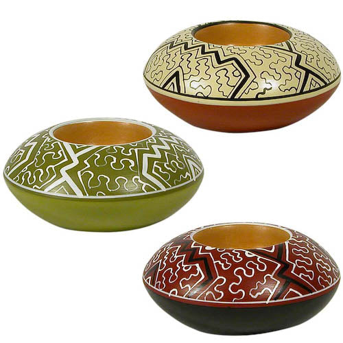 Shipibo Tea Light Holder from Peru - fairtribe