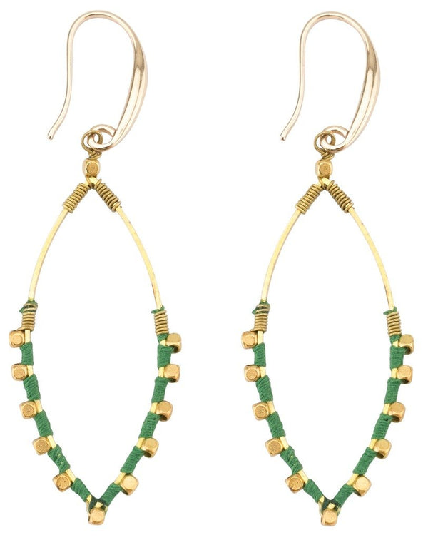 Earrings: Jane Kelly Green - Marquet (J) - fairtribe