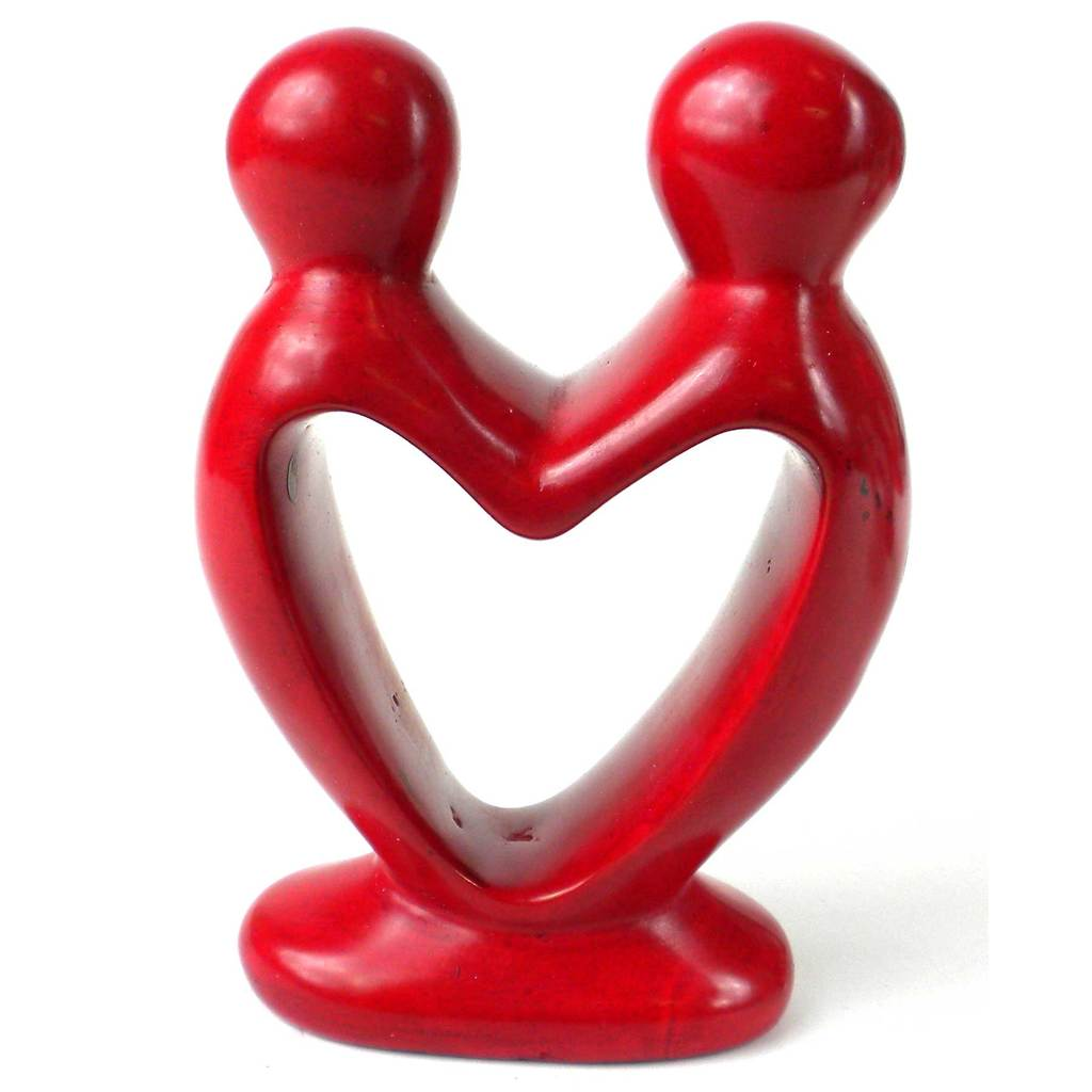 Red Soapstone Lovers Heart  - 4 Inch