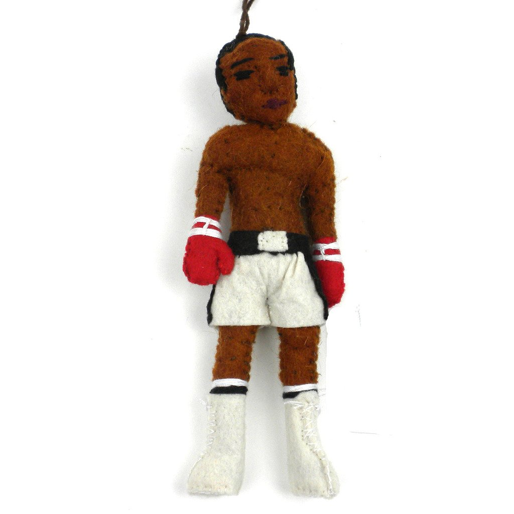 Muhammed Ali Felt Christmas Tree Ornament - fairtribe