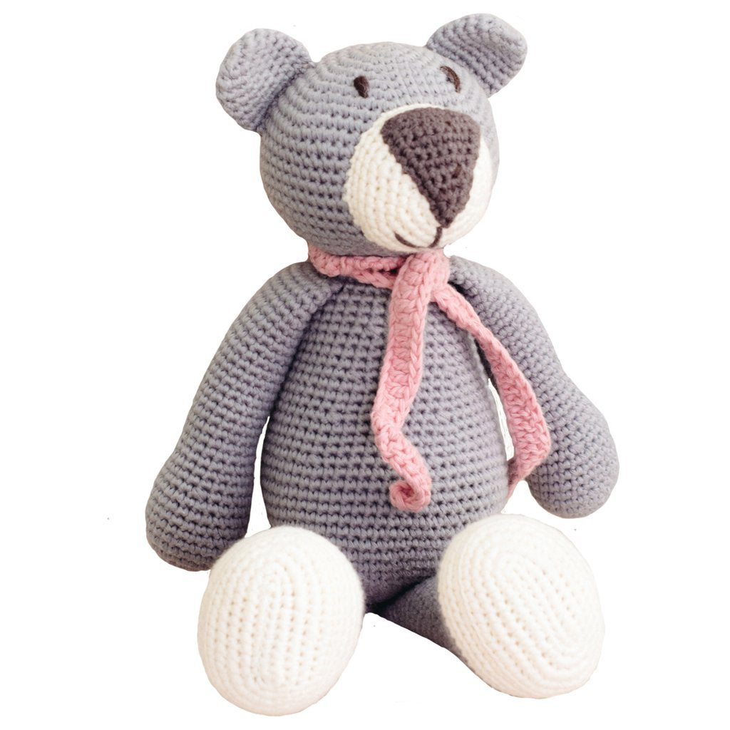 Grey Organic Teddy Bear - fairtribe