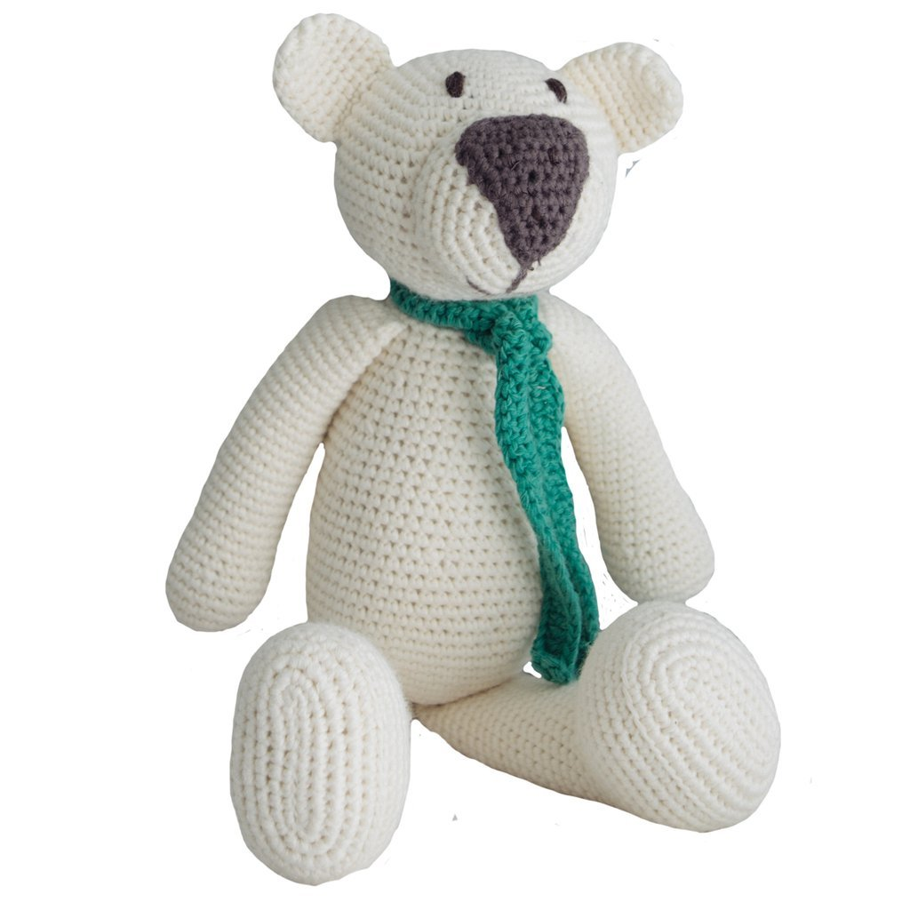 White Organic Teddy Bear - fairtribe