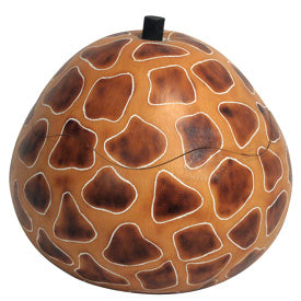 Giraffe Pattern Carved Gourd- from Peru